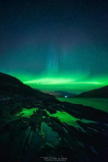 Полярное сияние над Норвегией - №14