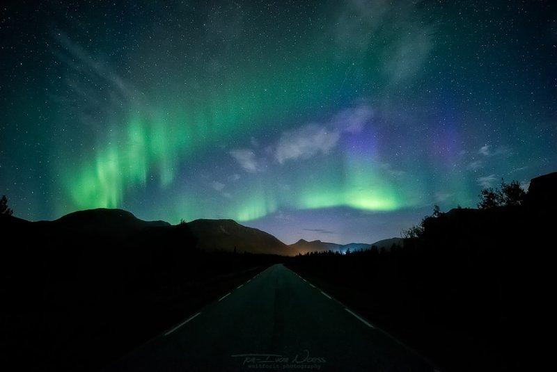 Полярное сияние над Норвегией - №6