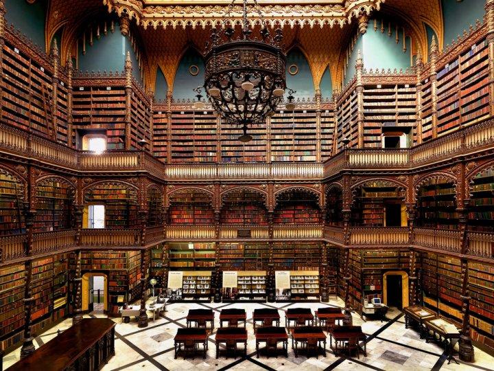 Португальская королевская библиотека. Рио-де-Жанейро, Бразилия.