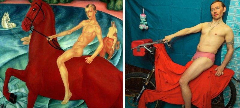 Люди изображают героев знаменитых картин - №3