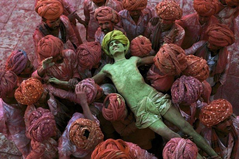 Фестиваль Холи, Раджастхан, Индия, 1996