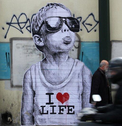 Новости в фотографиях - Лучшая подборка стрит-арт 2013 - №18