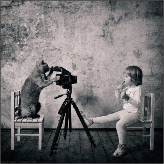 Девочка и Кот в интересном фото проекте - №15