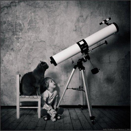 Девочка и Кот в интересном фото проекте - №5