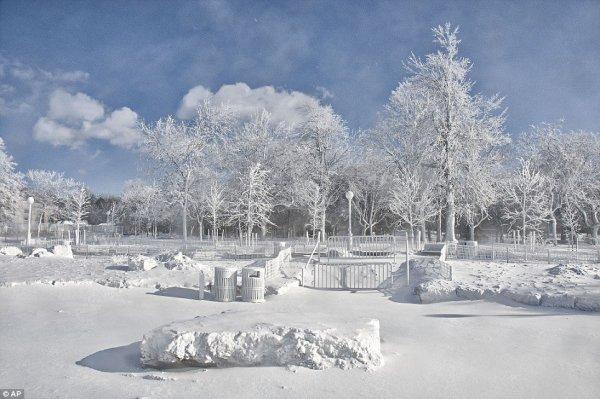 замерз Ниагарский водопад 4