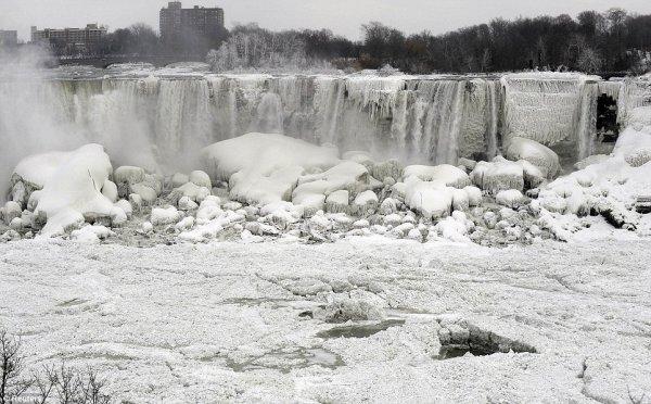 замерз Ниагарский водопад 8