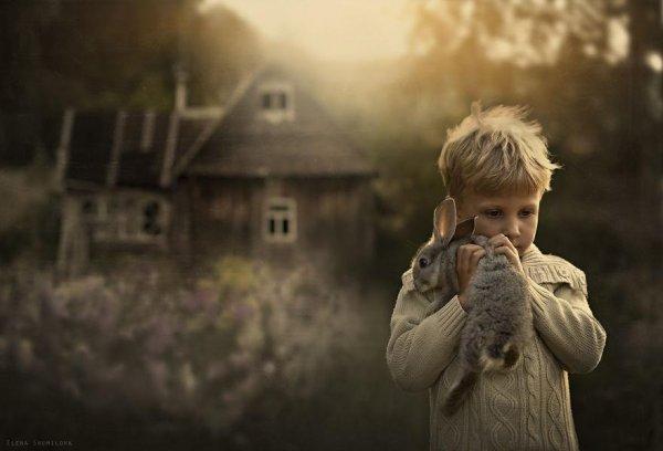 Очаровательные фото кадры - дети и животные - №9