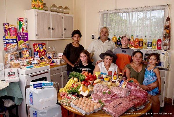 Недельный набор продуктов у разных народов в семейных фото - №5