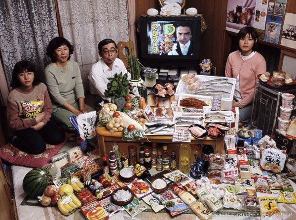 Недельный набор продуктов у разных народов в семейных фото - №9