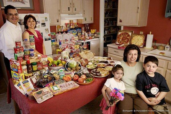 Недельный набор продуктов у разных народов в семейных фото - №13