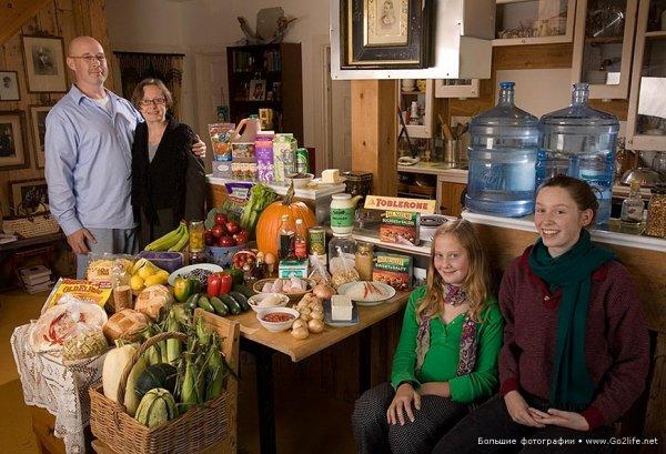 Недельный набор продуктов у разных народов в семейных фото - №17