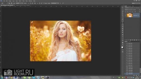 коррекция фото в фотошопе
