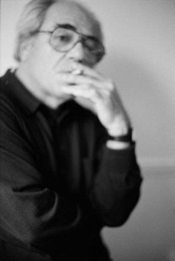 Портрет Бодрийара работы Георгия Пинхасова