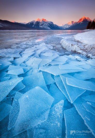 Красота природы - Замёрзшее озеро МакДональд