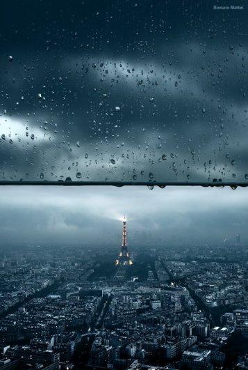 Городские пейзажи фотографии в дожде