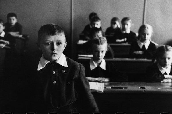 Марк Рибу. Средняя школа № 331. Москва, Россия, 1960. © Marc Riboud